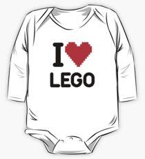 Ich liebe LEGO Langärmeliger Einteiler