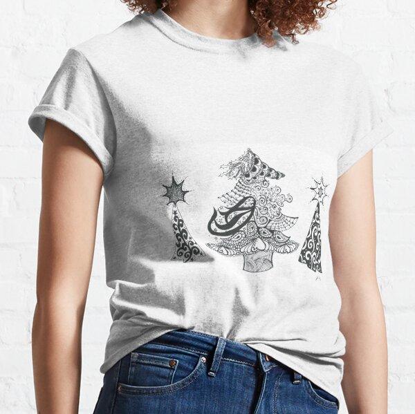 Doodle Art Christmas Trees Classic T-Shirt