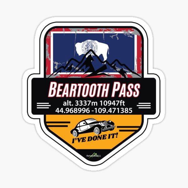 Beartooth Pass US 212 Motorcycle Car RV Cycle Sticker & T-Shirt 03 Sticker
