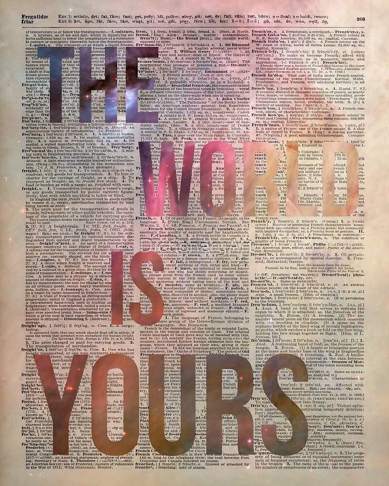 The World is Yours Motivational Space Stencil Dictionary Art by DictionaryArt