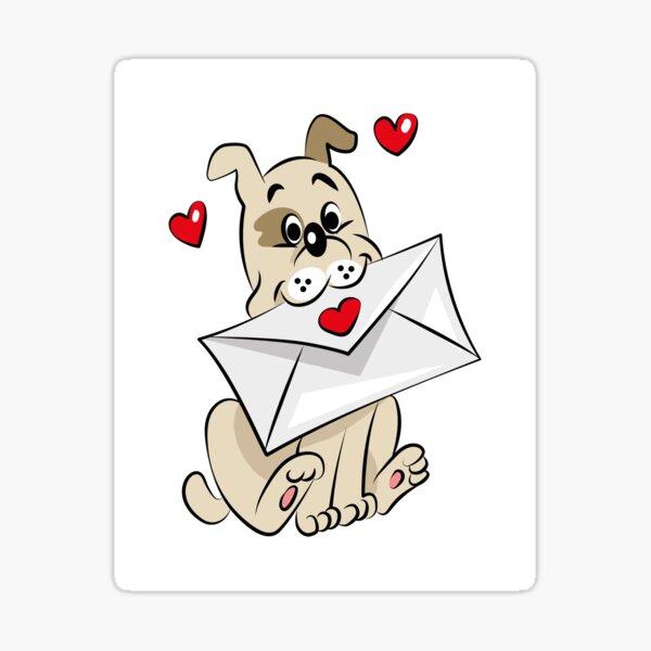 Valentinstag Brief Sticker