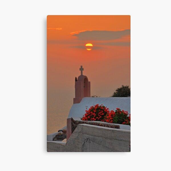 Church at Sunset Canvas Print
