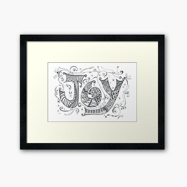 Doddle Art 'JOY' Framed Art Print