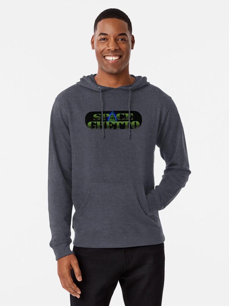 Alternate view of SpaceGhetto Logo Lightweight Hoodie