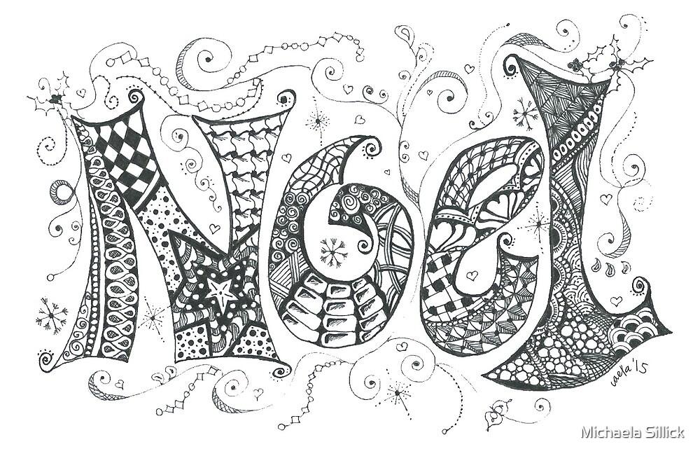 "Doodle Art ""Noel""  by Michaela Sillick"