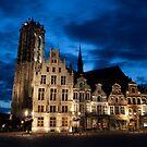 Night european city by Maxim Mayorov