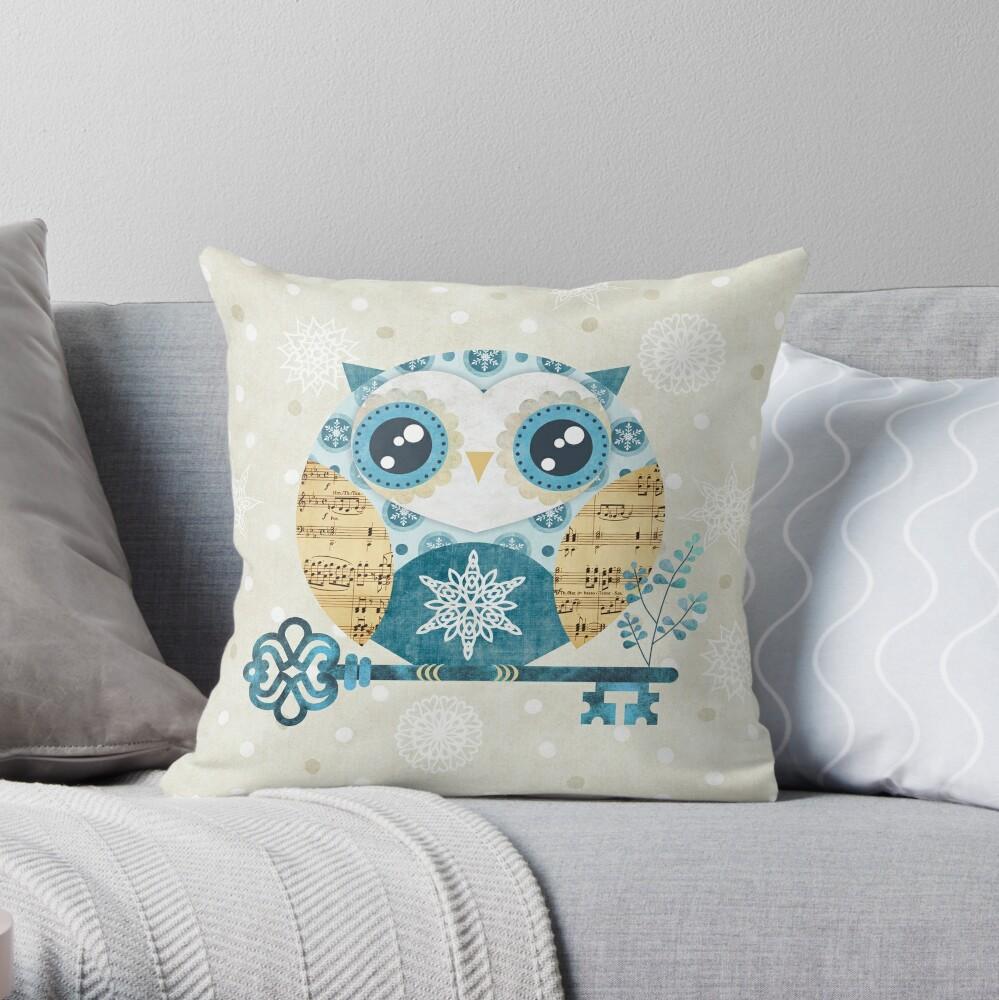 Winter Wonderland Owl Throw Pillow