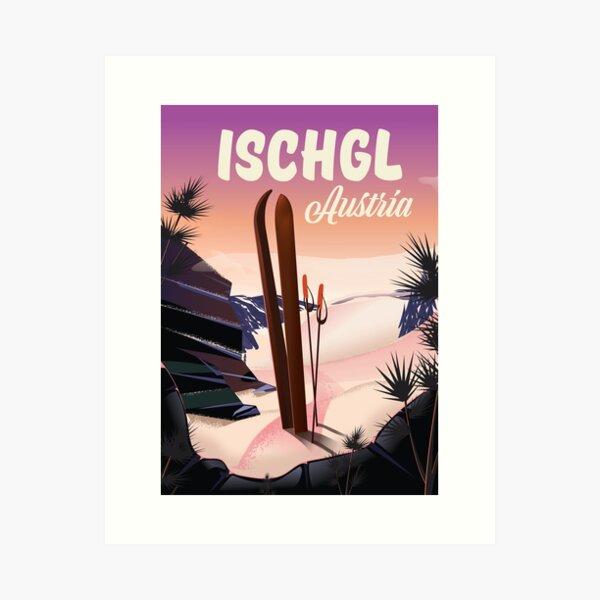 Ischgl, Österreich Reiseplakat Kunstdruck