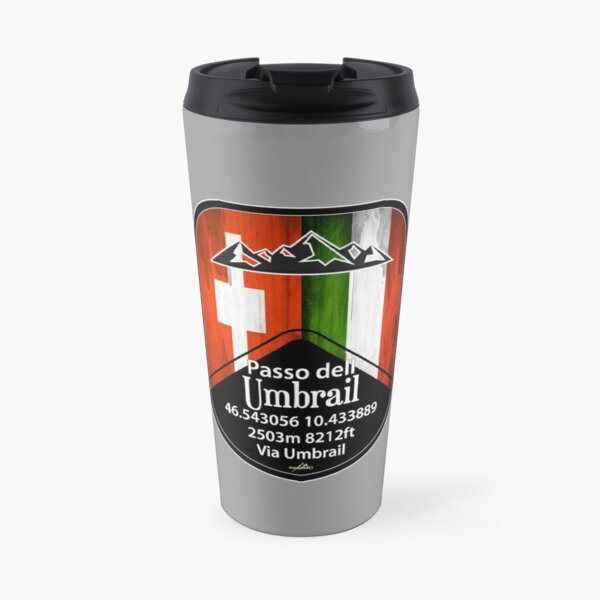 Umbrail Pass Passo dell Umbrail Italien Schweiz Sticker & T-Shirt Thermobecher