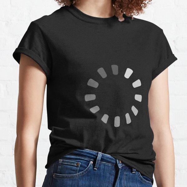 Buffering nerd icon loading Classic T-Shirt