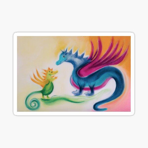 Dragon baby with dragon mom Sticker