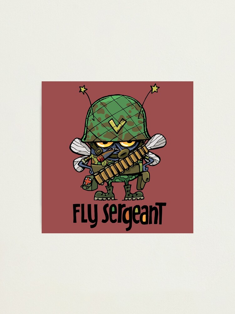 Alternate view of dirty bad and evil Fly Sergeant Photographic Print