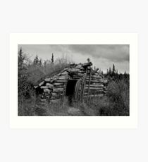 Gold Rush Cabin (Yukon) Art Print