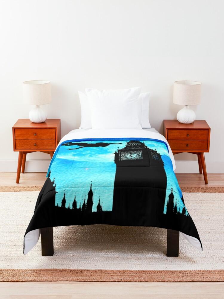Alternate view of Magical Watercolor Night - Peter Pan Comforter