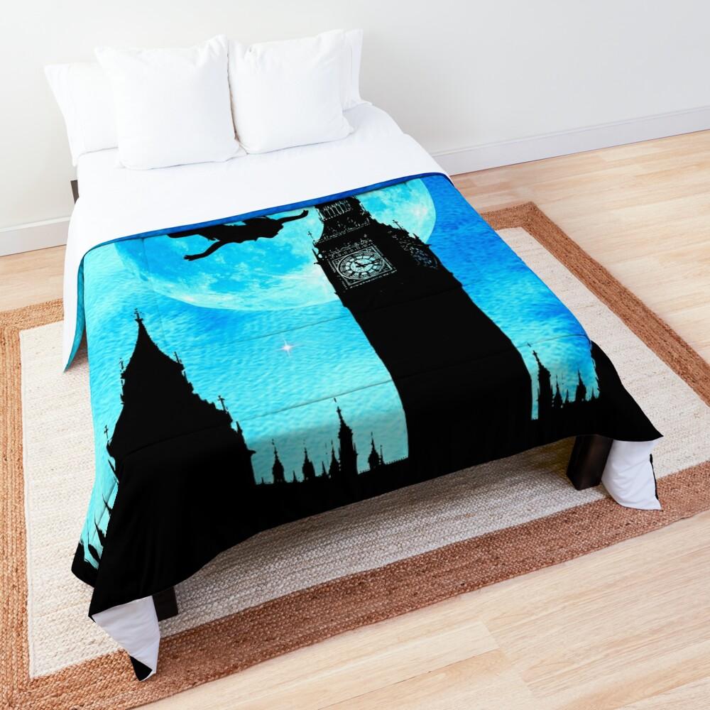 Magical Watercolor Night - Peter Pan Comforter