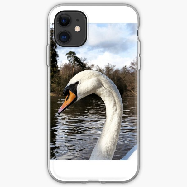 Swan Looking Straight Into My Eyes iPhone Soft Case