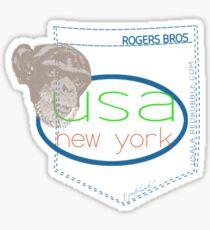 usa logo by ian rogers Sticker