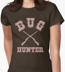 BUG HUNTER - Western Style Design for Test Engineers Skin Font on Brown Women's Fitted T-Shirt