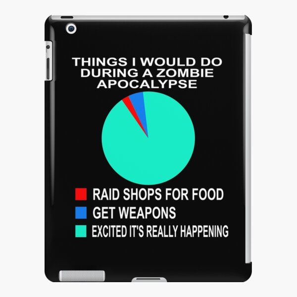 Funny Zombie Apocalypse What You Will do Pie Chart Gift iPad Snap Case
