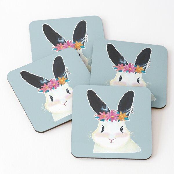 Mochi the bunny Coasters (Set of 4)
