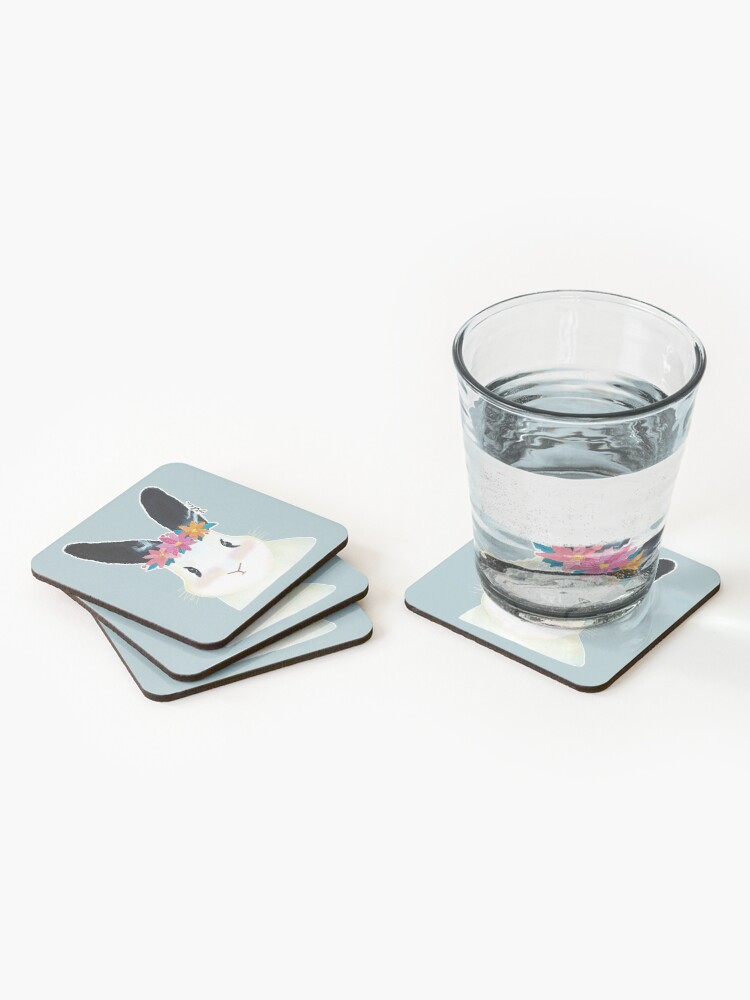 Alternate view of Mochi the bunny Coasters (Set of 4)