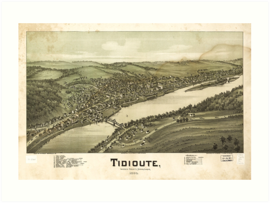 Bird's Eye View of Tidioute Warren County Pennsylvania (1896) by allhistory