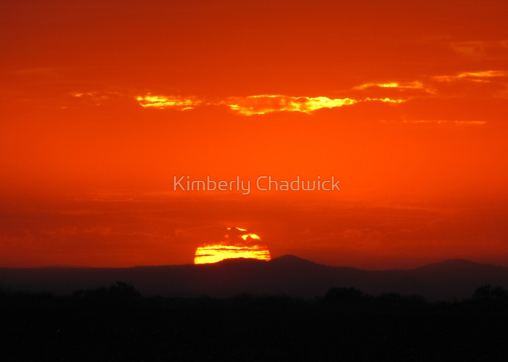 Monsoon Sunset by Kimberly Chadwick