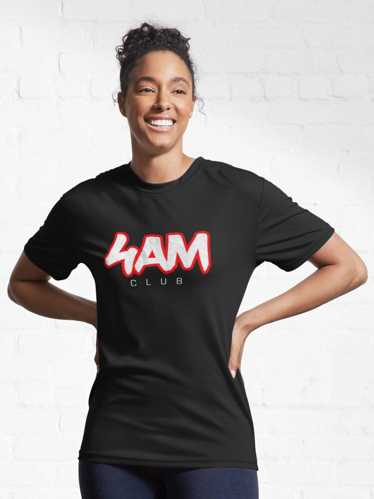 Alternate view of Gym Workout Motivation - Personal Trainer Coach - 4AM  Active T-Shirt