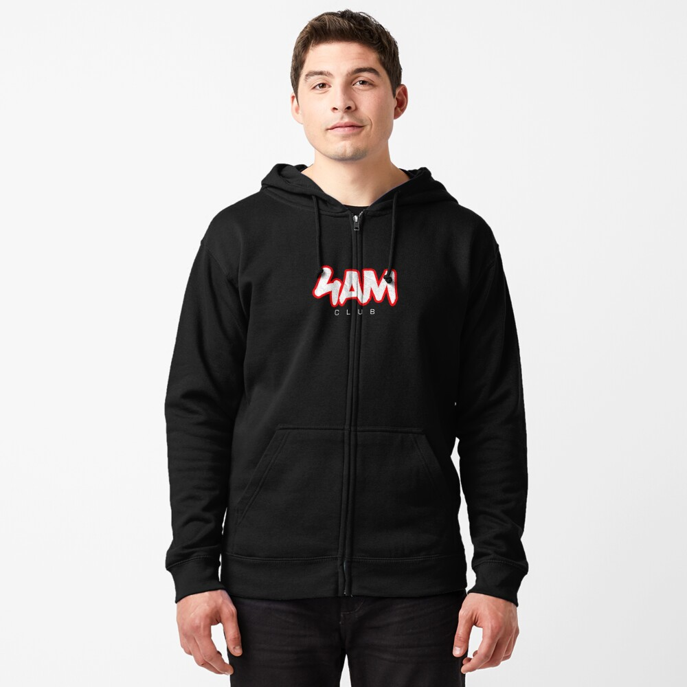 Gym Workout Motivation - Personal Trainer Coach - 4AM  Zipped Hoodie