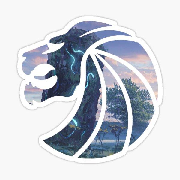 Löwenkopf Sticker