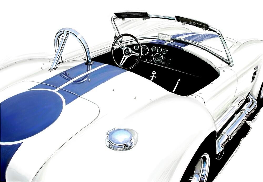 White AC Ford Coba by davidkyte