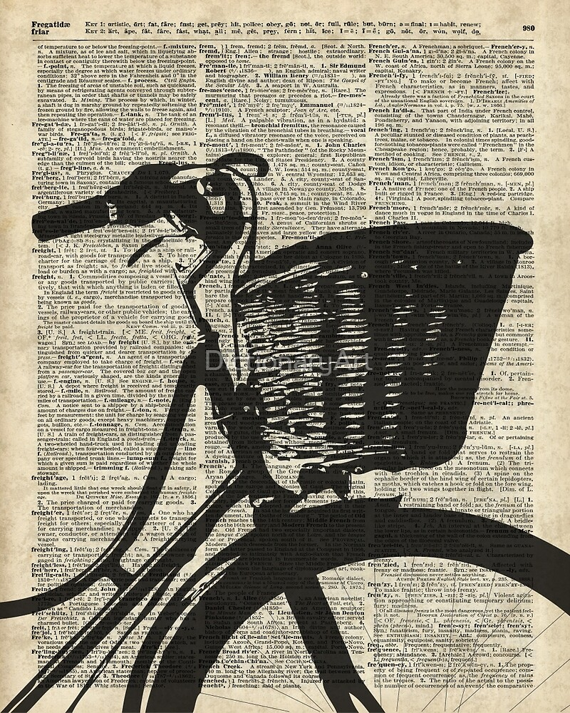 Vintage bicycle Dictionary Art by DictionaryArt