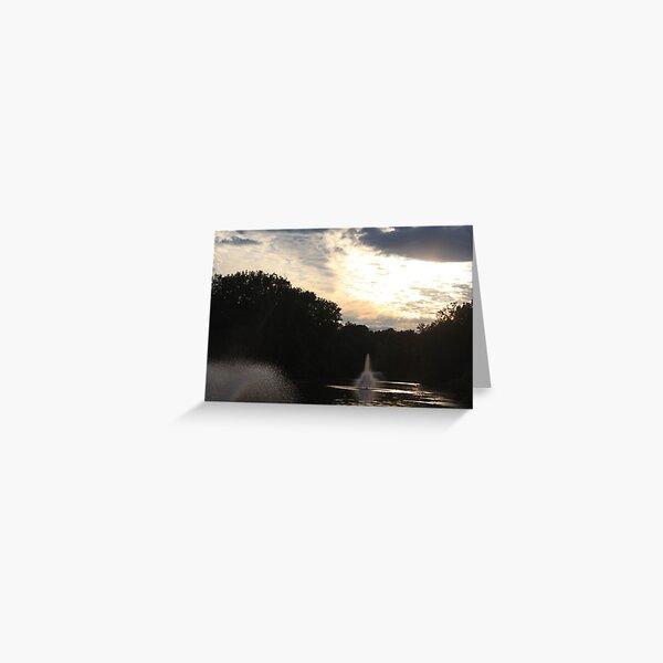 The Sunset Lake Greeting Card