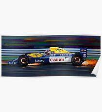 Nigel Mansell Willams Poster
