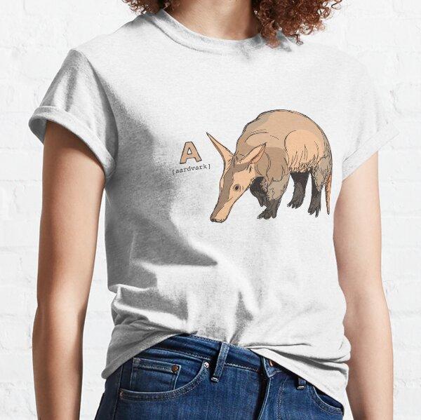 Funky Animal Alphabet: A is for Aardvark Classic T-Shirt