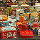 Collection Of Old Tins by Robert Abraham