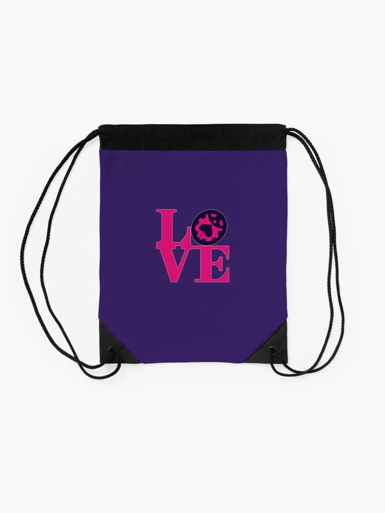 Alternate view of Love Ladybug - Jojo Part 5 Drawstring Bag