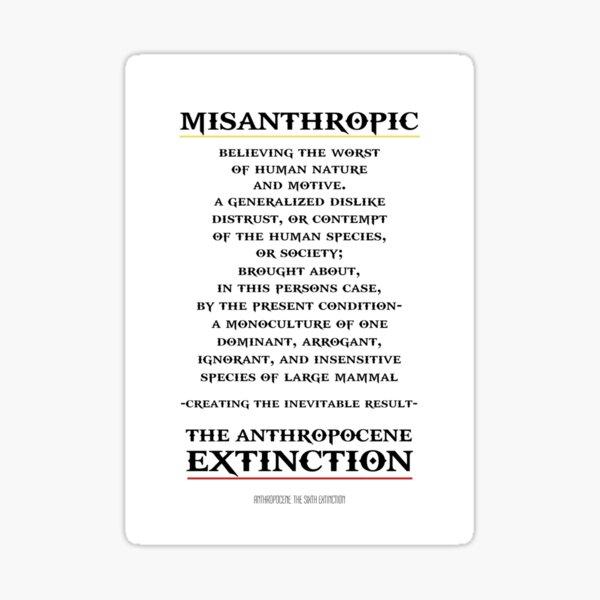 MISANTHROPY  Sticker