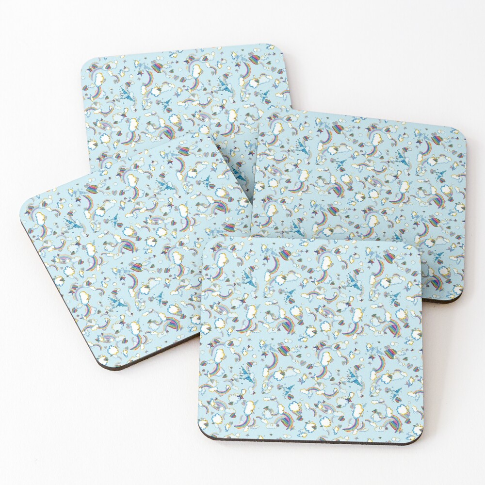 LF '98 in Baby Blue Coasters (Set of 4)