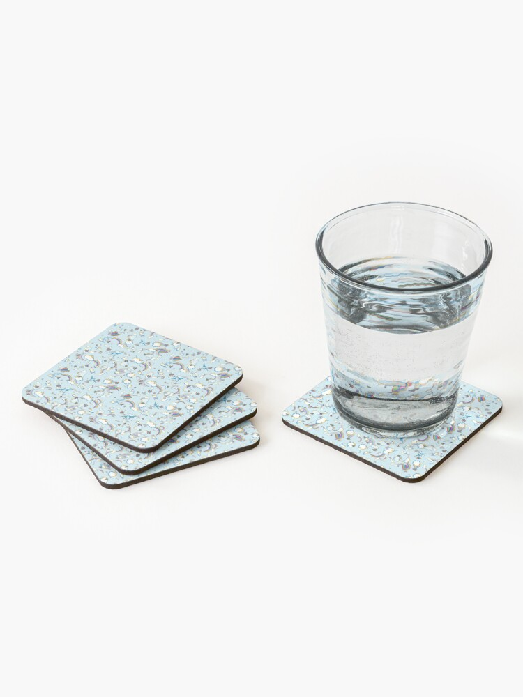 Alternate view of LF '98 in Baby Blue Coasters (Set of 4)