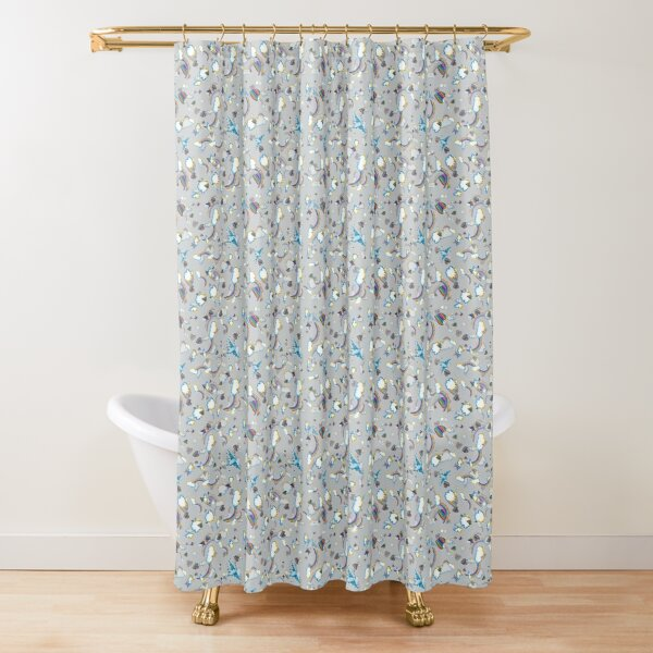 LF '98 in Silver Shower Curtain