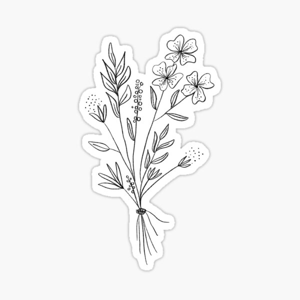 Wildflower Stickers Redbubble