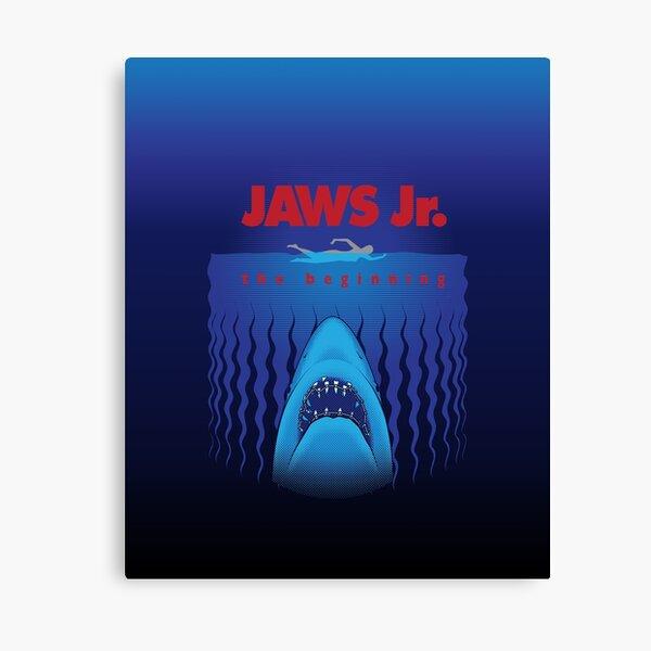 jaws movie poster split canvas prints framed on bars