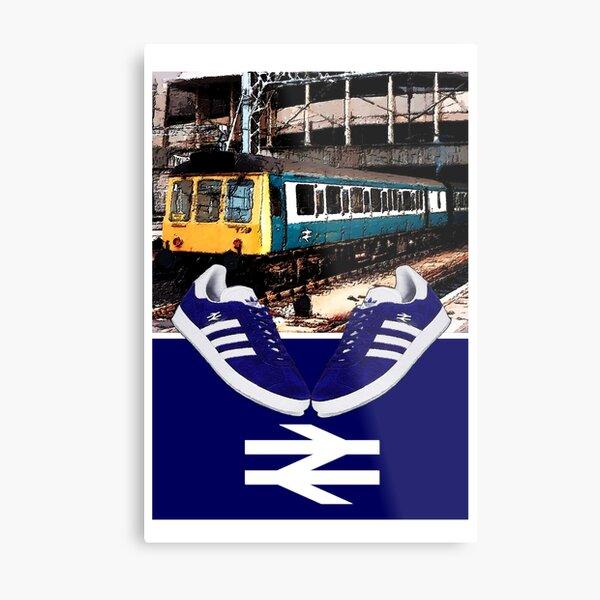 Football away days - Navy Blue Premium T-Shirt Metal Print