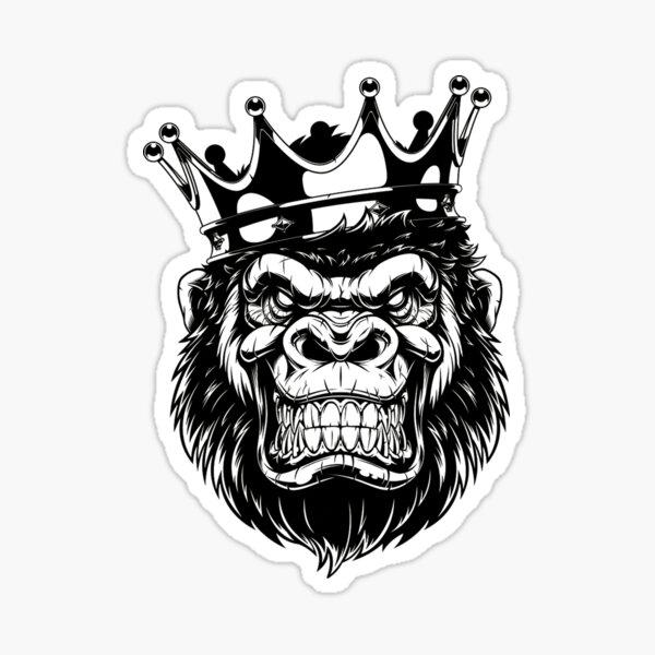 Gorilla mit einer Krone Sticker