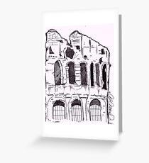 the gladiator stadium ! Greeting Card