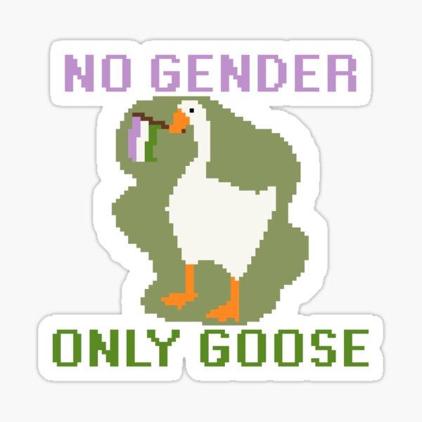 Genderqueer Untitled Goose Game Meme Sticker Sticker