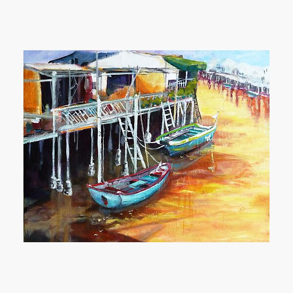 Resting moments - Boat series Photographic Print