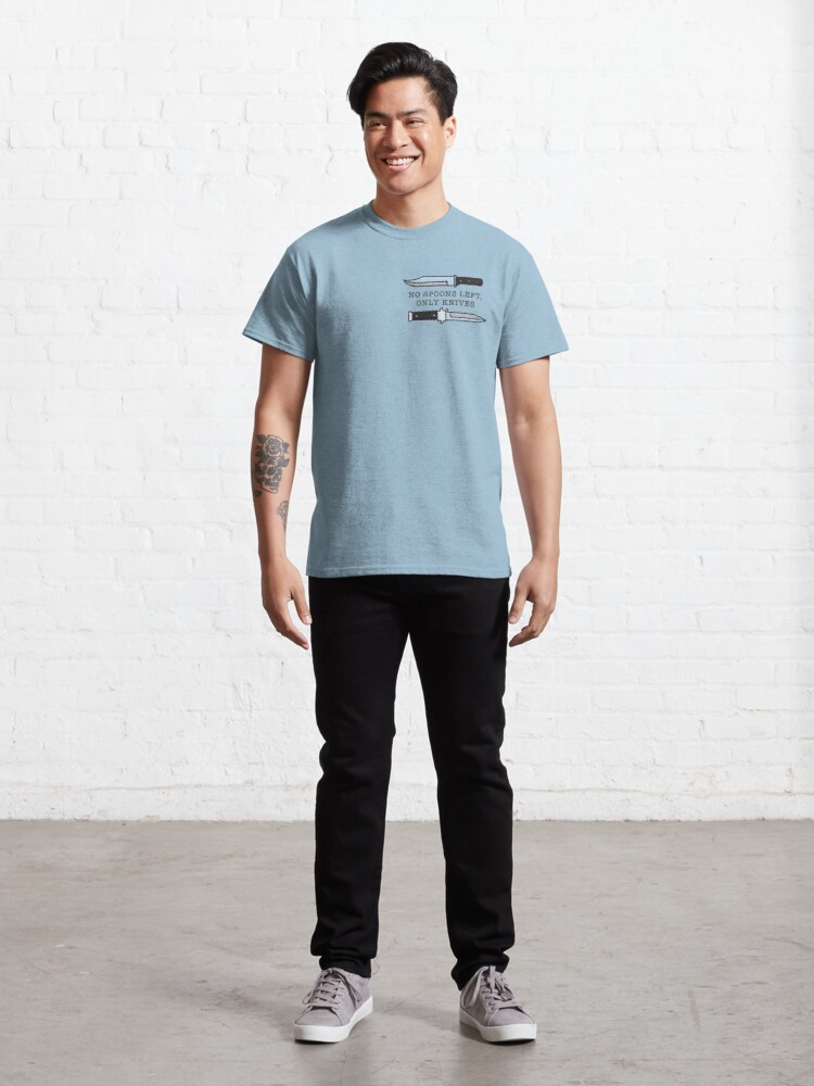 Alternate view of No Spoons, Only Knives Classic T-Shirt