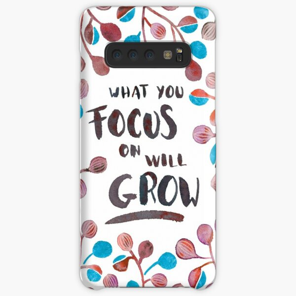 What you focus on will grow - Fall Palette Samsung Galaxy Snap Case